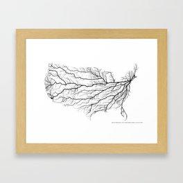 Highways of America Framed Art Print
