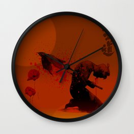 Seppuku ( Hara Kiri) The liberation of the spirit of the samurai Wall Clock