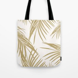 Gold Palm Leaves Dream #1 #tropical #decor #art #society6 Tote Bag