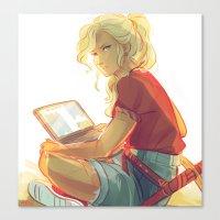 viria Canvas Prints featuring wise girl by viria