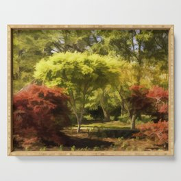 A Walk In The Woods Painting Serving Tray
