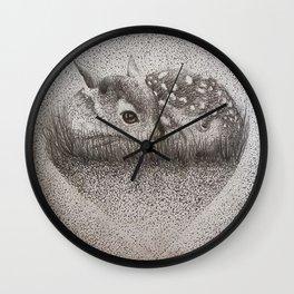 Dotty Deer Wall Clock