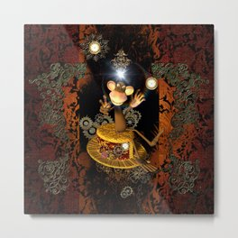 Funny monkey Metal Print