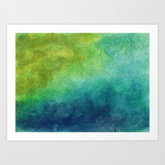 Where the land meets the sea Art Print