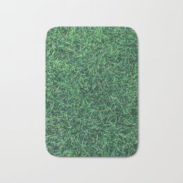 Green Grassy Texture // Real Grass Turf Textured Accent Photograph for Natural Earth Vibe Bath Mat