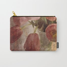 peach tulips Carry-All Pouch
