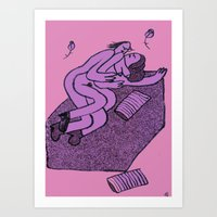 cuddle Art Prints featuring Cuddle by Joshua Emter