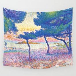 "Henri-Edmond Cross ""La Plage de Saint-Clair"" Wall Tapestry"