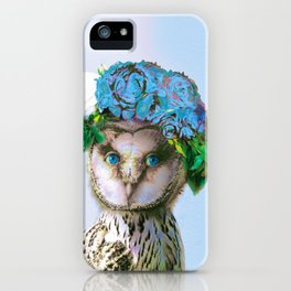 Cool Animal Art - Owl with a Flower Crown iPhone Case