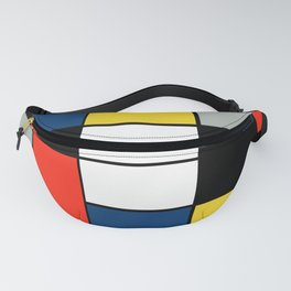 Piet Mondrian - Large Composition A with Black, Red, Gray, Yellow and Blue, 1930 Artwork Fanny Pack