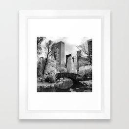 Central Park Bridge. Framed Art Print