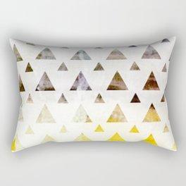 earthy triangles Rectangular Pillow