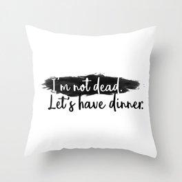 Dinner Invitation Throw Pillow