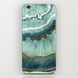 Gold Turquoise Agate iPhone Skin