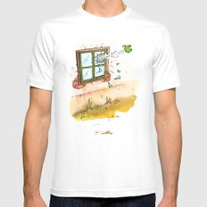 Apple! Mens Fitted Tee SMALL White