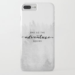 And So The Adventure Begins iPhone Case