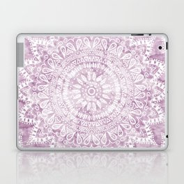 BOHEMIAN FLOWER MANDALA IN PINK Laptop & iPad Skin