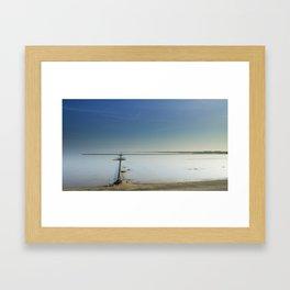 The salt marshes of Groningen Framed Art Print