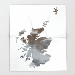 The land they call Scotland Throw Blanket