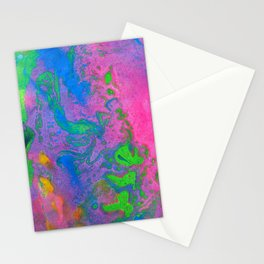 Marbling, Tie Dye Effect Abstract Pattern Stationery Cards