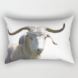 Portrait of a Horned Goat Grazing Vector Rectangular Pillow