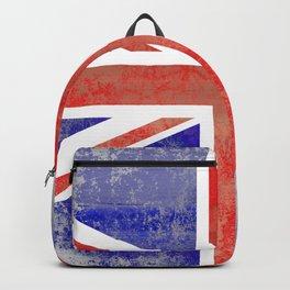 Grunge Union Jack Flag Backpack