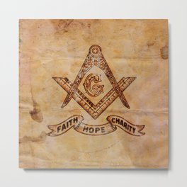 Sacred Freemasonic Symbolism by PB Metal Print