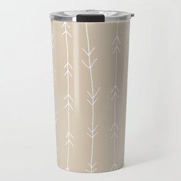 Arrow Pattern: Beige Travel Mug