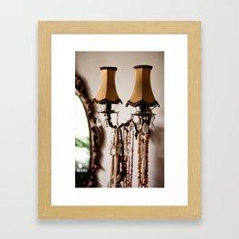 Decorative retro night lamp Framed Art Print