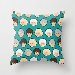 Golden Girls Green Pop Art Throw Pillow