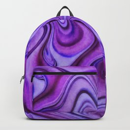 Violet wavy abstract Backpack