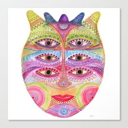 kindly expressed kind of kindness mask Canvas Print
