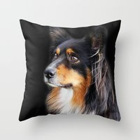 lucy Throw Pillows featuring lucy by ensemble creative