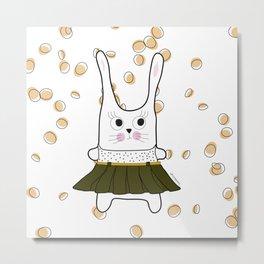 bunny  girl Metal Print