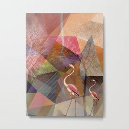 FLAMINGOS P23-C Metal Print