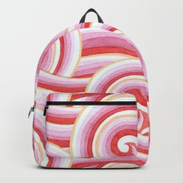 Red Auspicious Waves Backpack