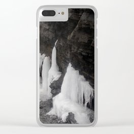 Coastal Waterfall Ice Clear iPhone Case