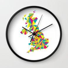 Abstract United Kingdom Bright Earth Wall Clock