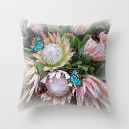 The King Protea Throw Pillow
