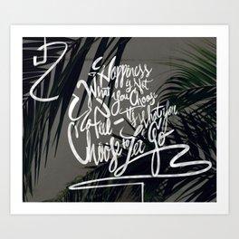 Choose to Let Go Art Print