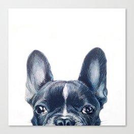 French Bull dog Dog illustration original painting print Canvas Print