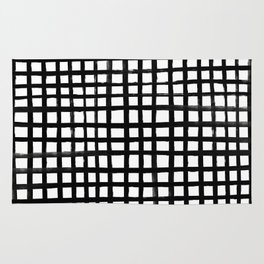 Hand-painted Grid Rug