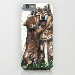 Wolf - Father and Son iPhone Case