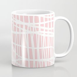 Net White on Blush Coffee Mug