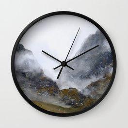 Nameless Mountains Wall Clock