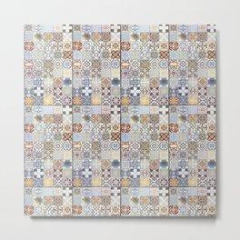 Tile texture Metal Print
