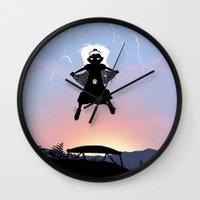 Storm Kid Wall Clock