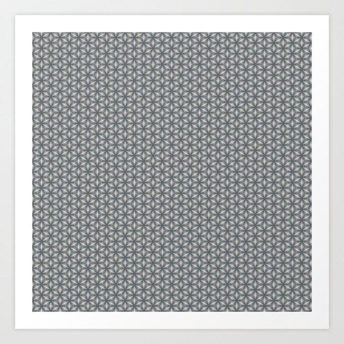 Geometric Flower Pattern 1 Art Print