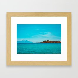 Some mountains in the sea Framed Art Print