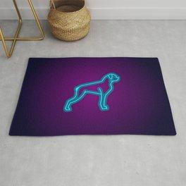 NEON BOXER DOG Rug